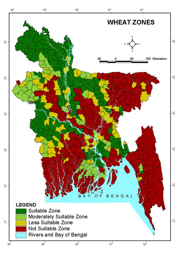 Bangladesh Wheat Zones