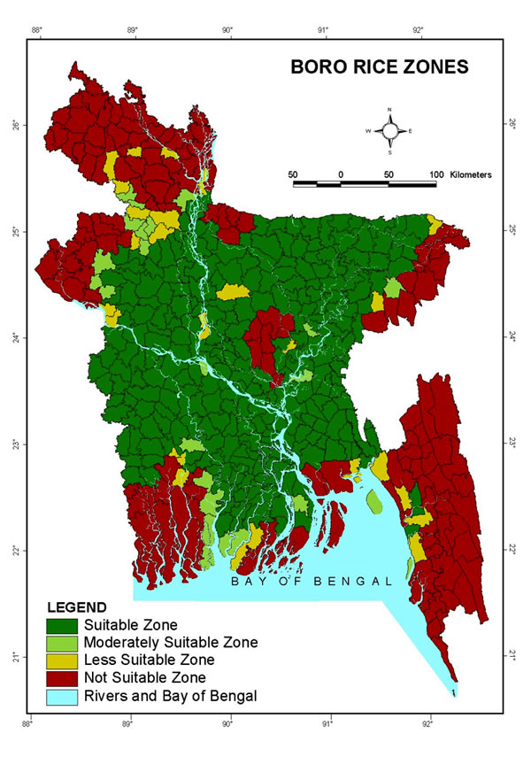 Boro Rice Zones - Bangladesh